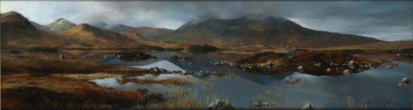 Fiona Haldane_Rannoch Moor II_Pastel_5.5x21