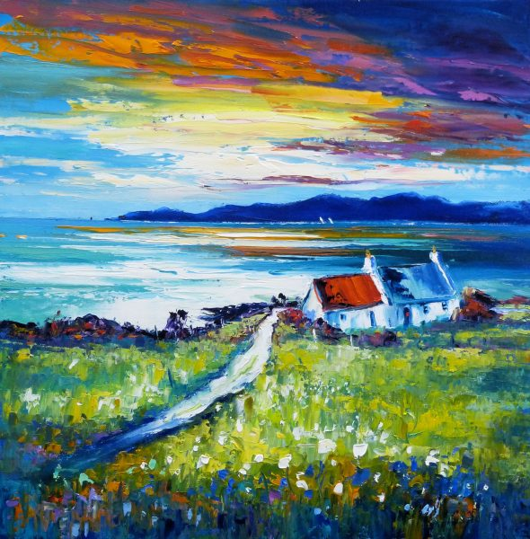 Jean Feeney_Evening Light, Isle of Lewis_Oil_12x12