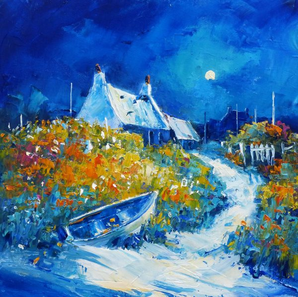 Jean Feeney_Midnight Stroll, Isle of Tiree_Oil_12x12