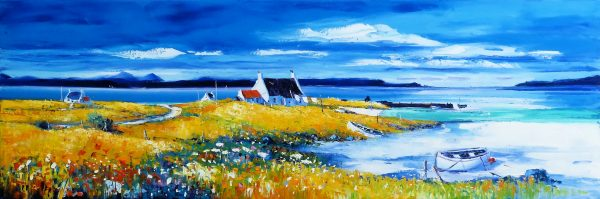 Jean Feeney_Morning by the Shore, Isle of Lewis_Oil_16x47
