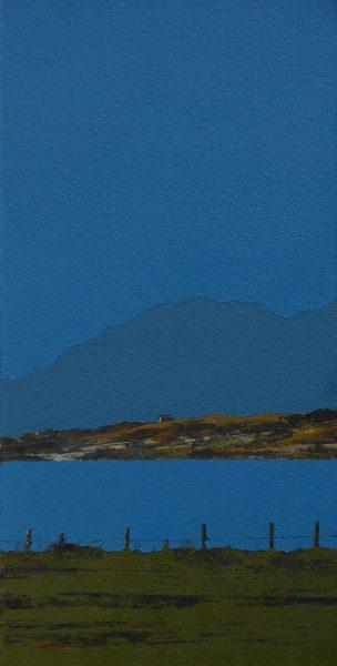 John Bell_Ardpatrick Point and Jura from Clachan_Acrylics_12x6