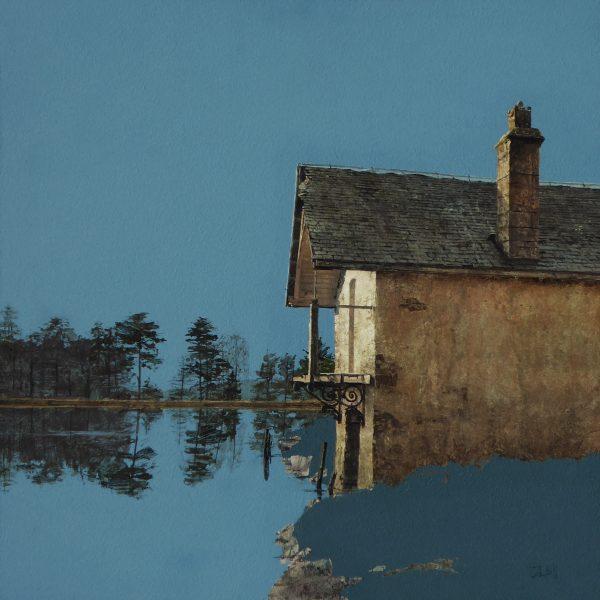 John Bell_Boat House, Drumore Loch, Glenshee_Acrylic_18x18
