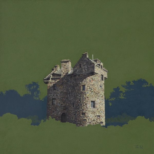 John Bell_Claypotts Castle, Broughty Ferry_Acrylic_24x24