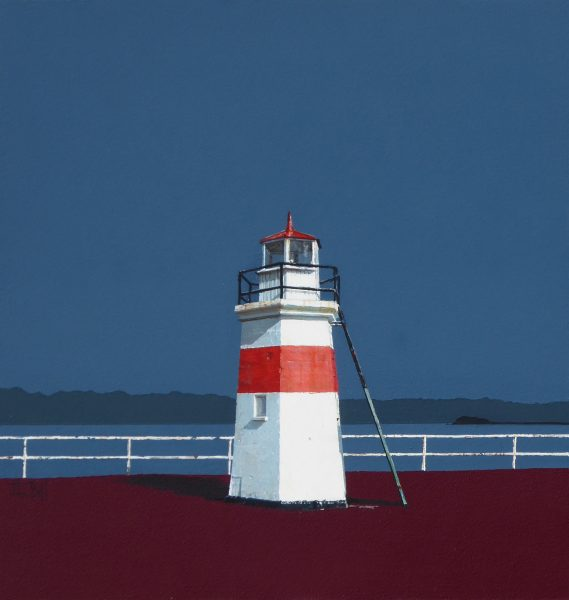 John Bell_Crinan Light, Crinan Canal_Acrylic_18x18