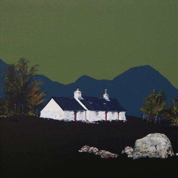 John Bell_Early Morning at Blackrock Cottage, Glencoe_Acrylic_18x18