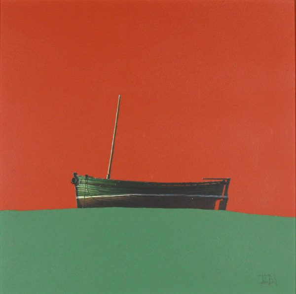 John Bell_Guardswell Boat, Sidlaws_Acrylic_18x18