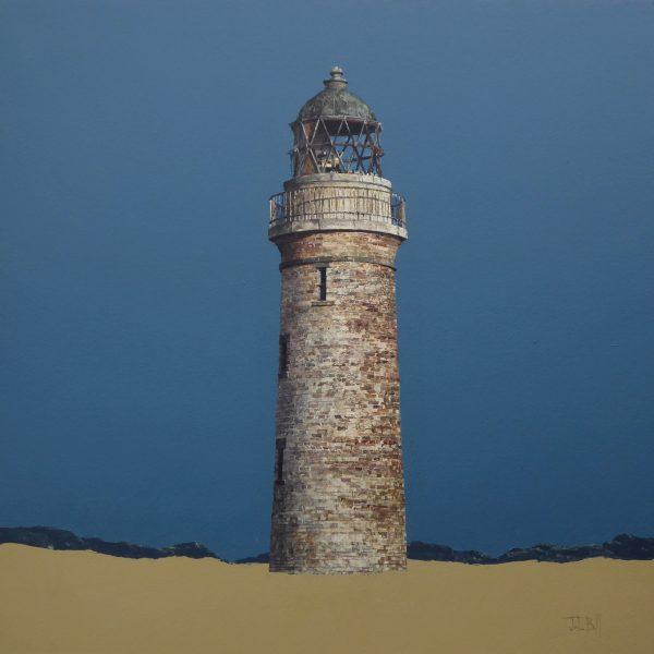 John Bell_Low Lighthouse, Buddon Ness_Acrylic_18x18