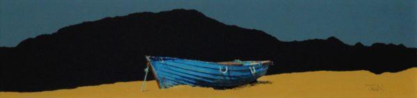 John Bell_The Blue Boat, Moldart_Acrylics_6x24