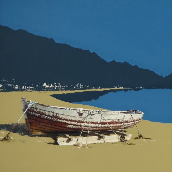 John Bell_Wintered Boat, Arnisdale_Acrylic_24x24