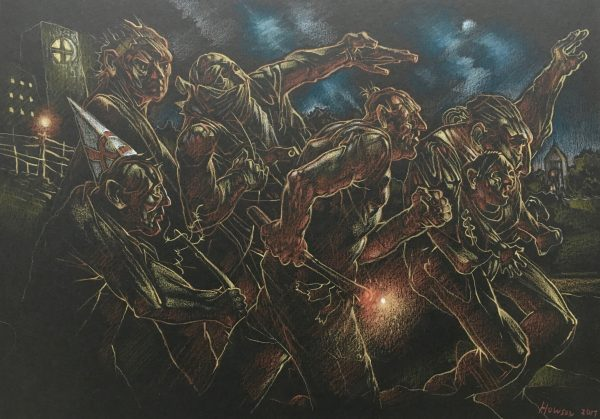 Peter Howson_Heartland_Mixed Media_8.5x11.5_16x19