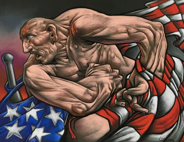Peter Howson_MOAB_Pastel_18x24_26x31