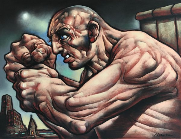 Peter Howson_Silencer_Pastel_18x24_26x31