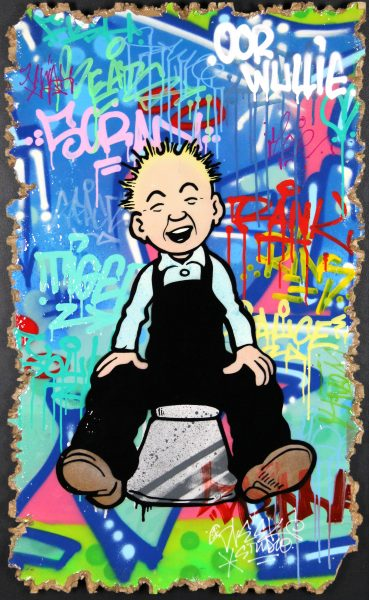 Sleek Studio_Oor Wullie (Whit a Laugh)_Mixed Media with Resin Coating_40x24