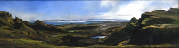 Fiona Haldane_An Island and a View, Skye_Pastel_5.75x20.25