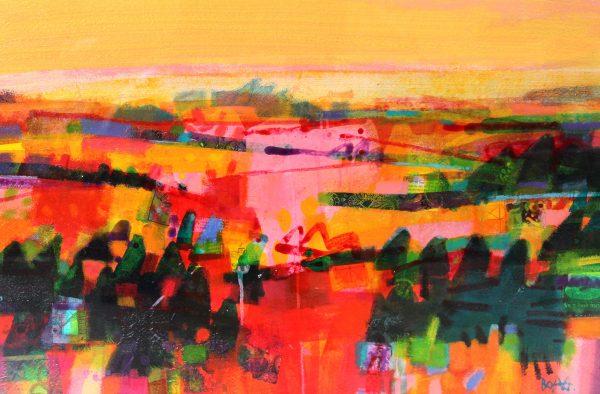 Francis Boag_Summer Fields, Moray_100303_Acrylic Collage