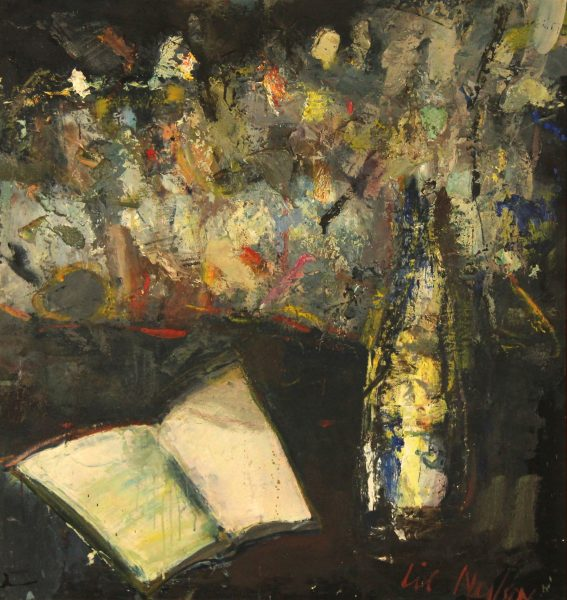 Lil Neilson_Book and Bottle_Oil_27x25