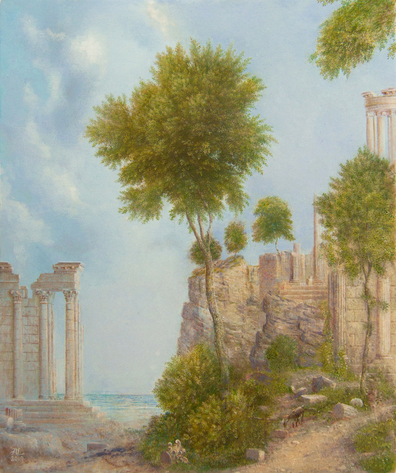 Alister Lindsay_Classical Ruin_Oils_8.25 x 6.75.jpg