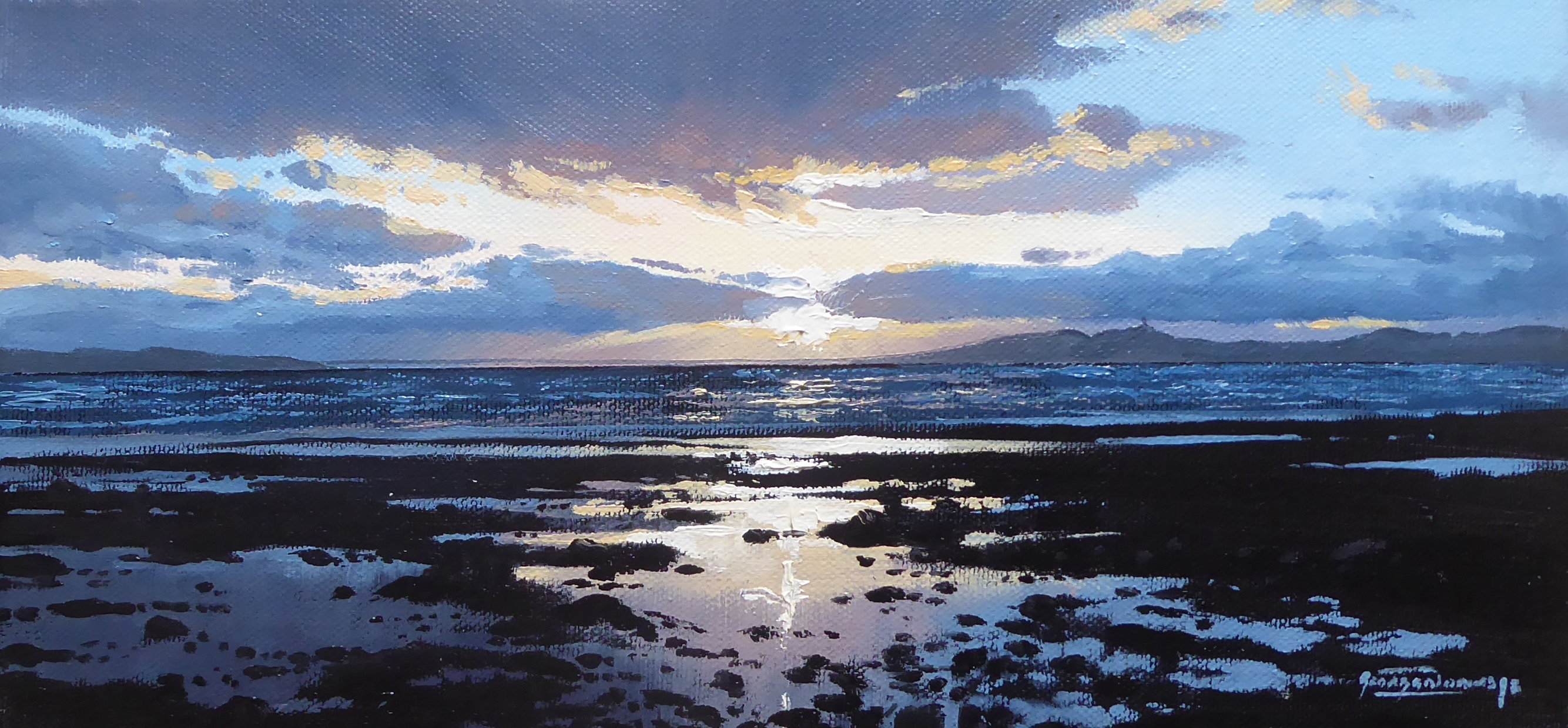 George Noakes_Sunset over the Tay 1