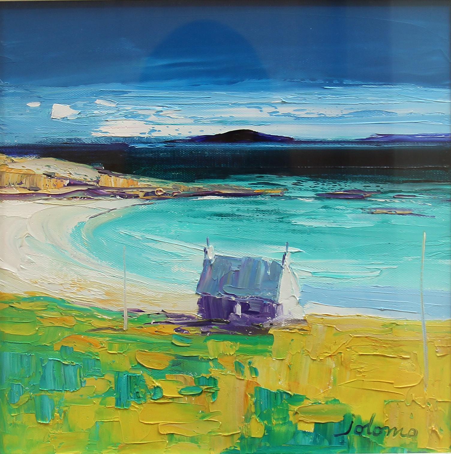 John Lowrie Morrison_Original_Oils_Uisken Beach, Isle of Mull_img size 12 x 12