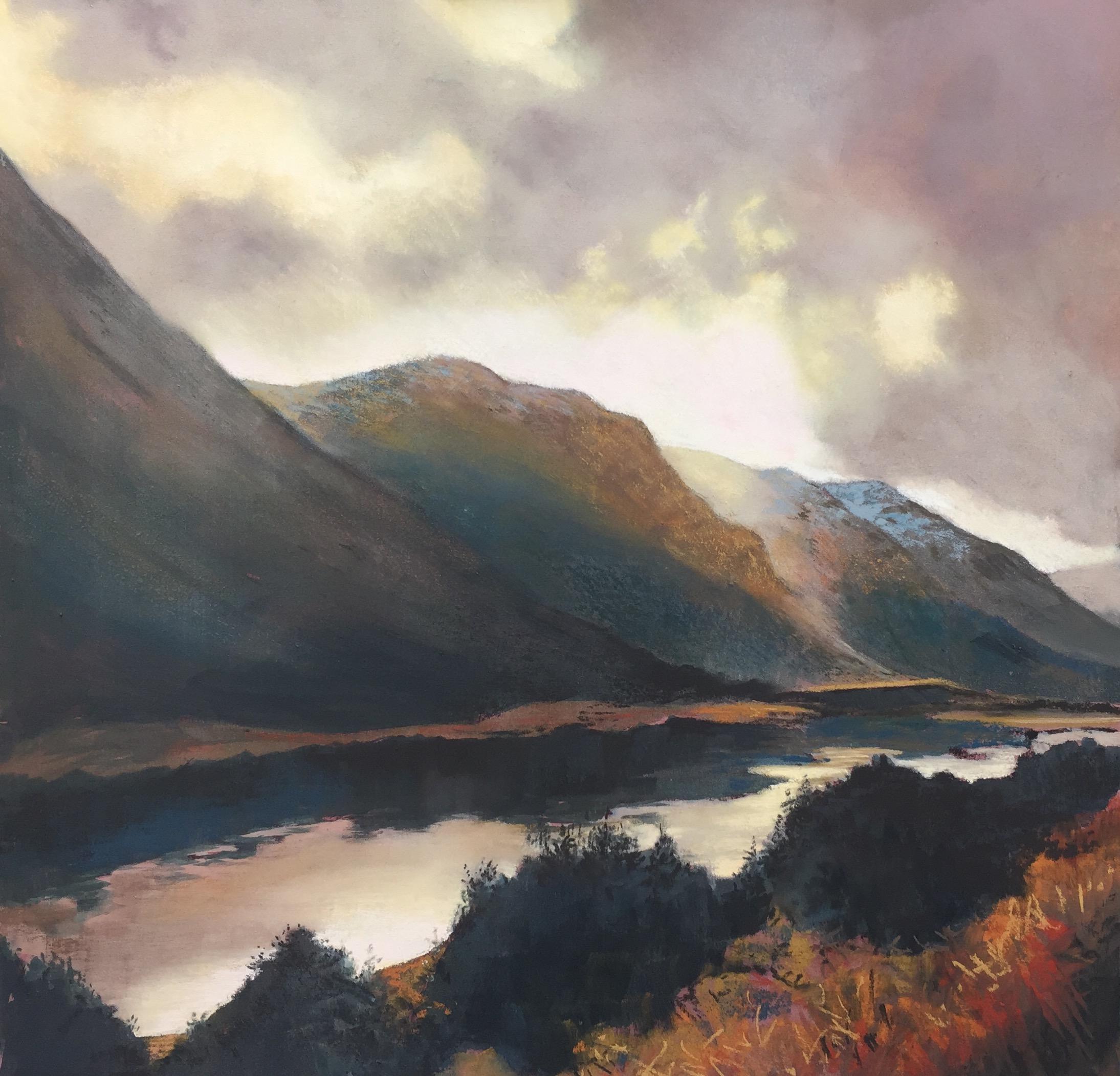 Margaret Evans_A Break in the Clouds, Loch Voil_Pastel & Gouache_24x24