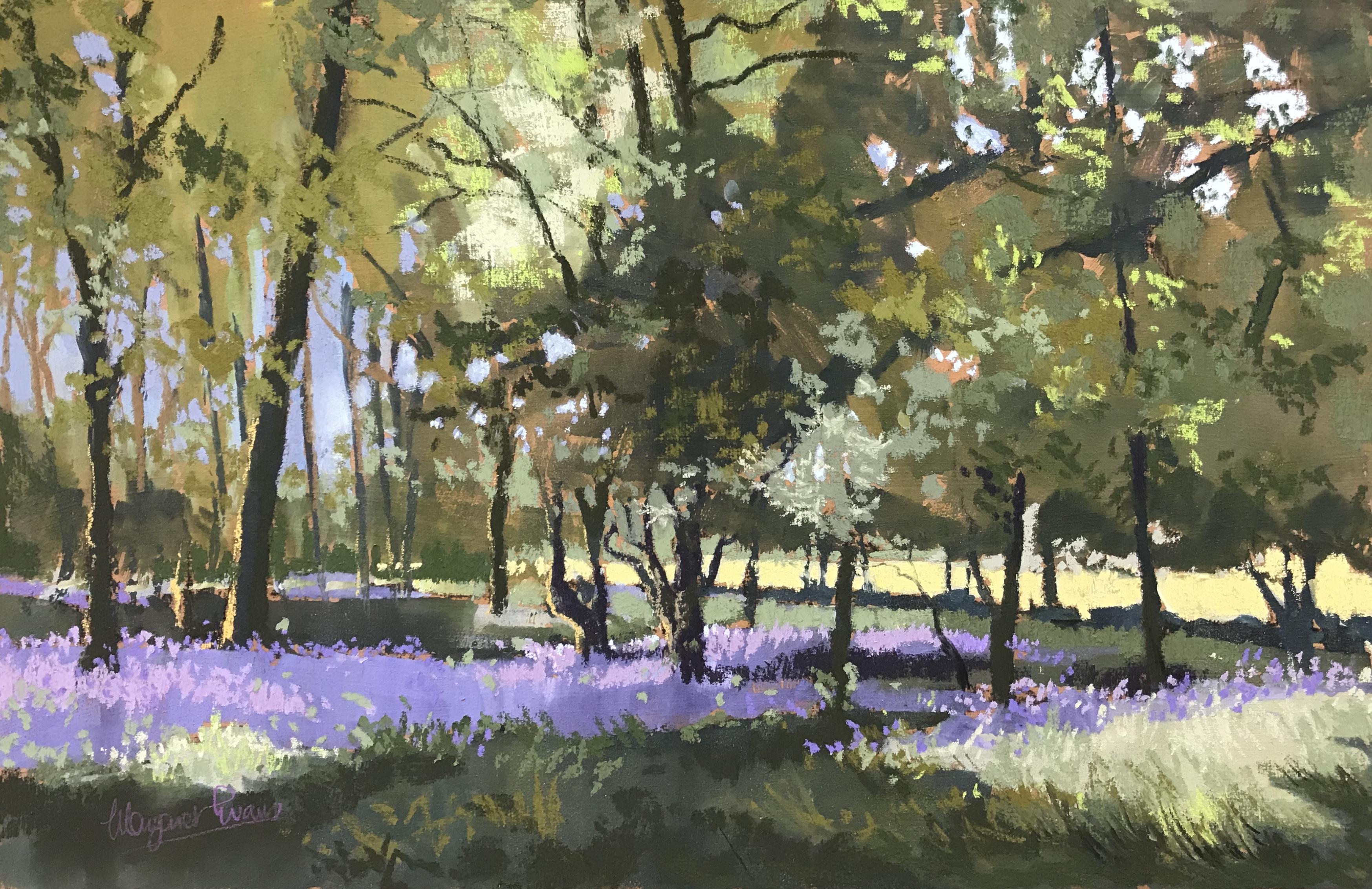 Margaret Evans_Bluebell Woods I_Pastel & Gouache_12x18