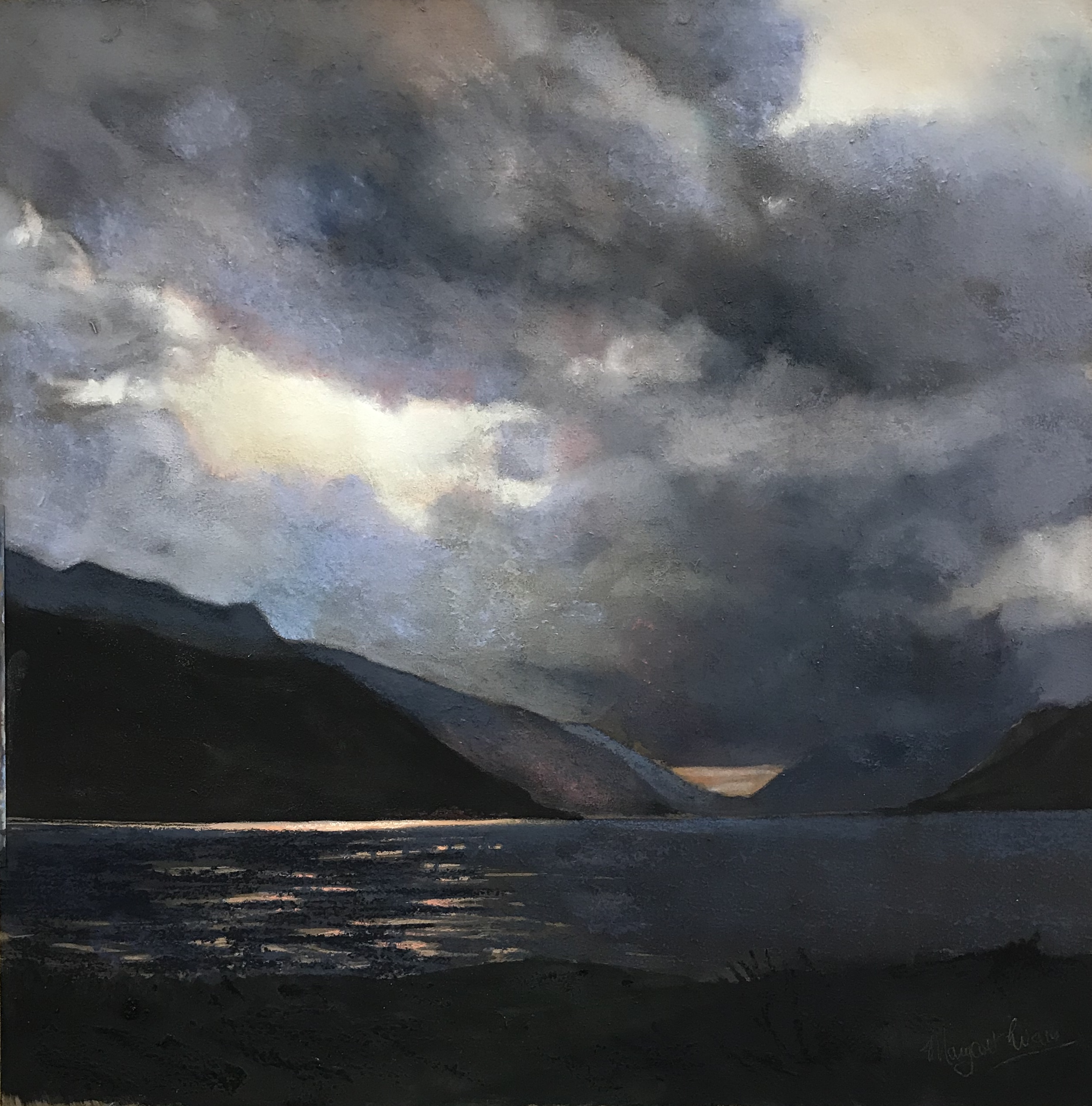 Margaret Evans_Fading Light_Pastel & Gouache_18x18