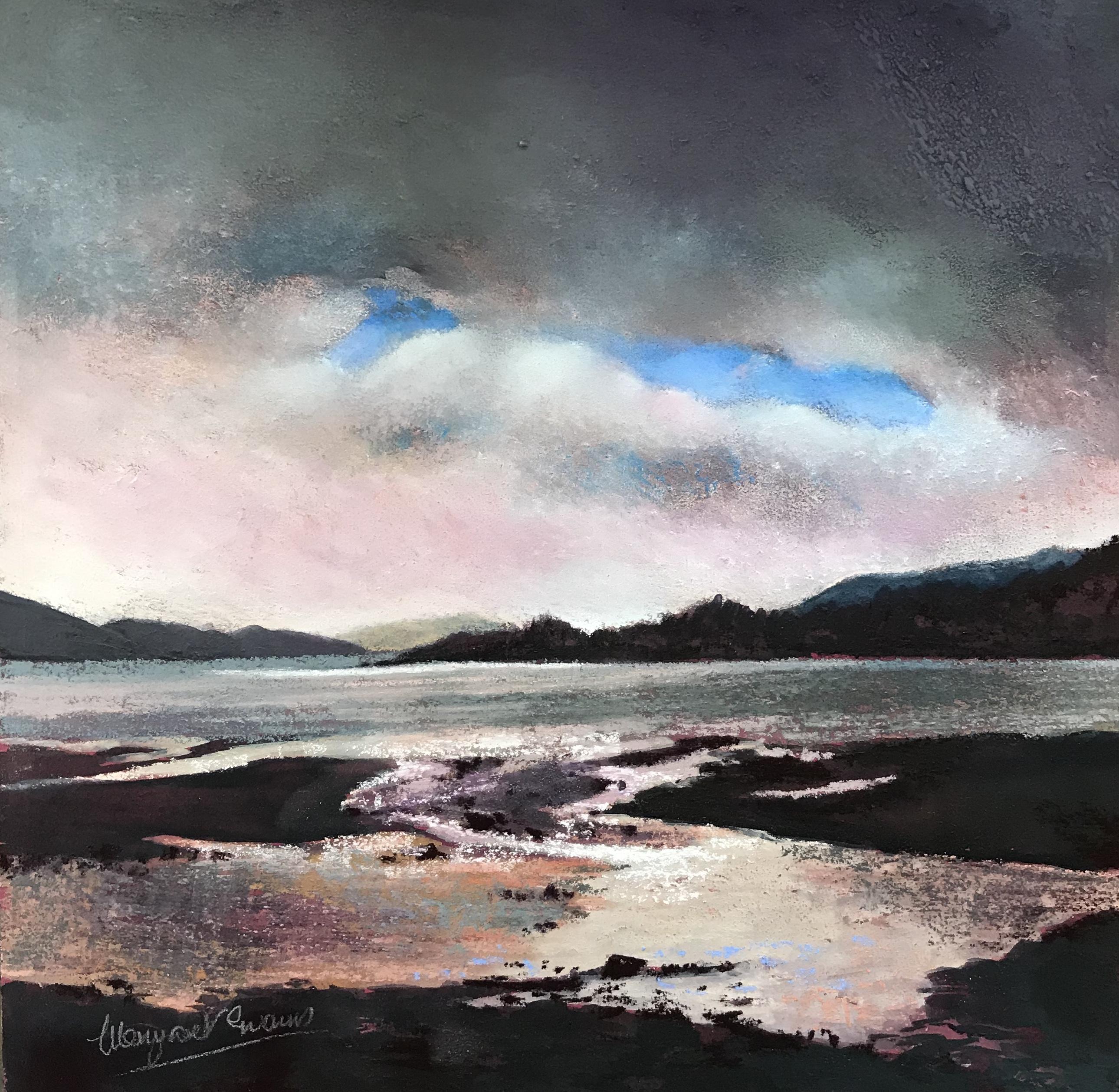 Margaret Evans_Light on Loch Melfort_Pastel & Gouache_12x12