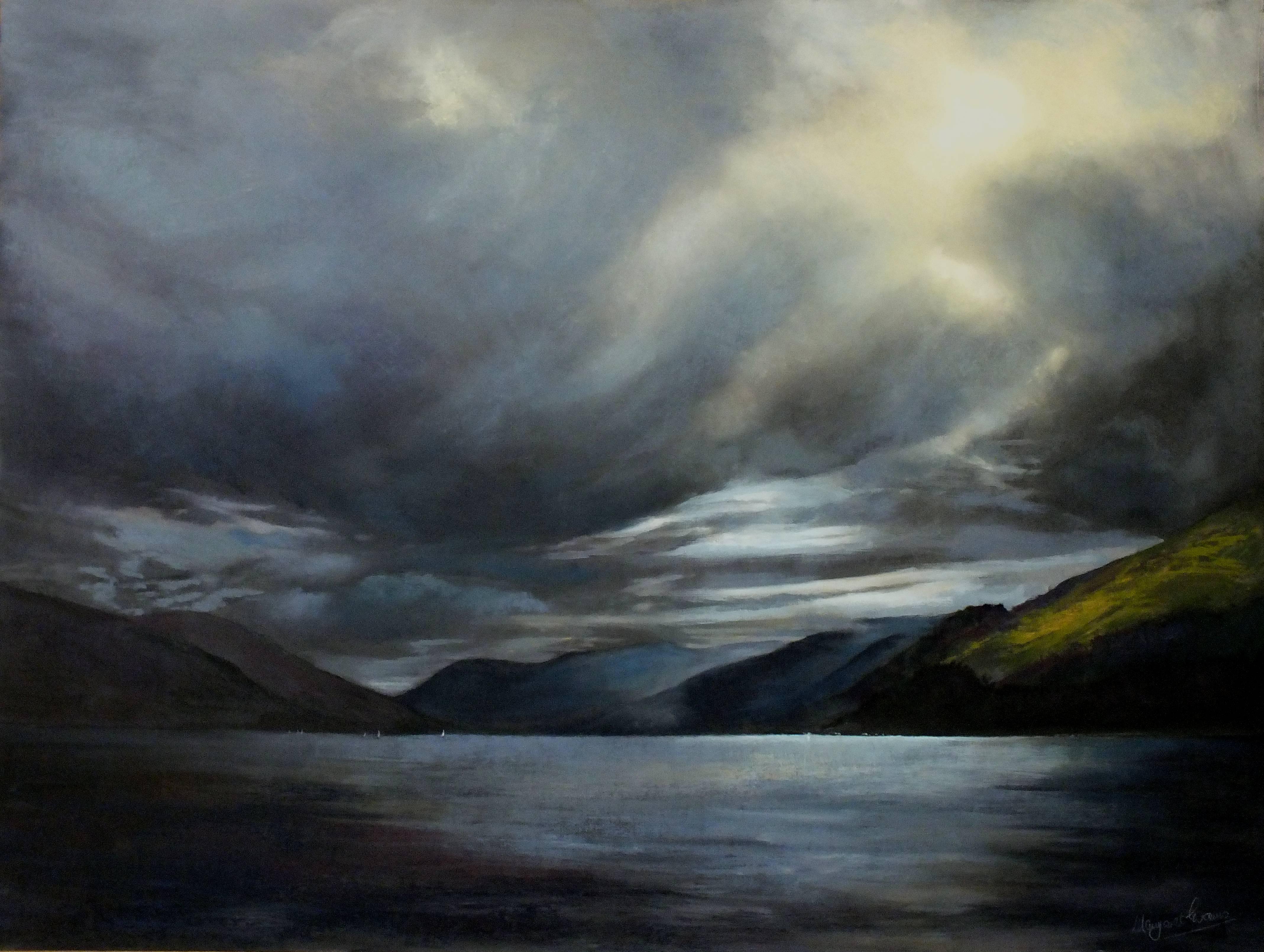 Margaret Evans_Moonlight on the Loch_Pastel & Gouache_36x48