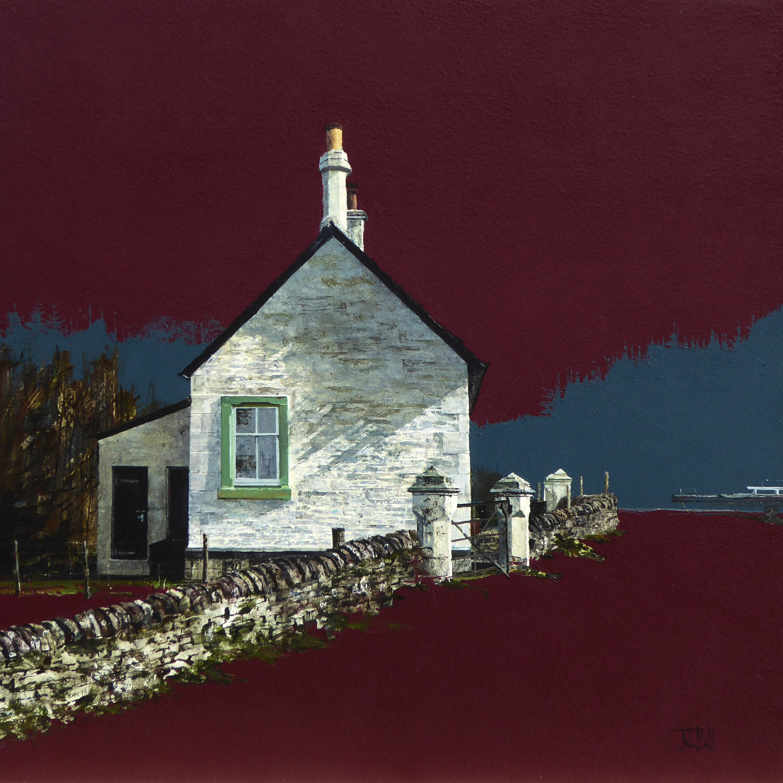 Gable Shadow, Crinan Canal (size 18 x 18 inches)