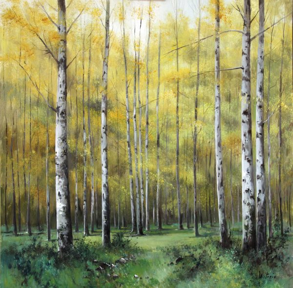 Antoli Victorio_Birch Forest_39.5x39.5