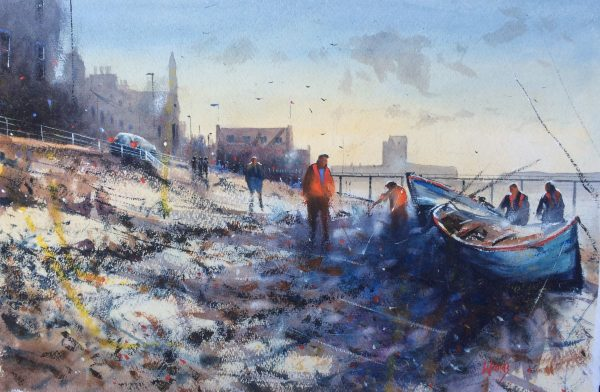 Graham Wands_Mending Boats, Broughty Ferry_Watercolour