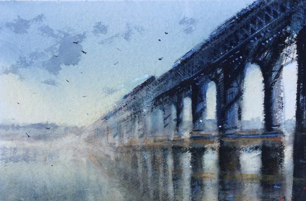 Graham Wands_Mist, Tay Rail Bridge_Watercolour