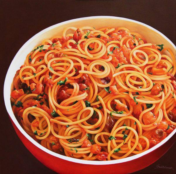 Heinz Scholnhammer_Spaghetti al Pomodoro II_23.5x23.5