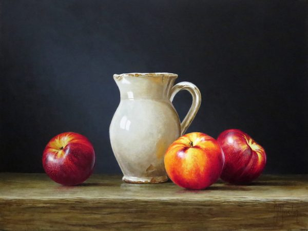 Ian Mastin_Jug with Nectarines_Acrylic_9x12.jpeg