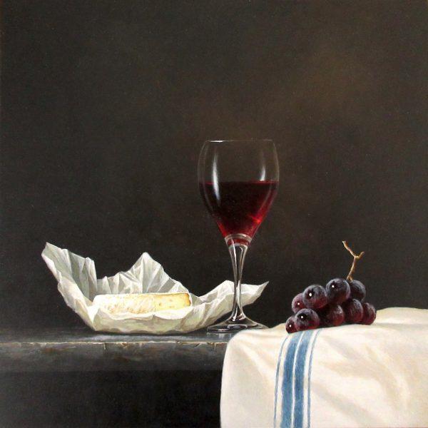 Ian Mastin_Pinot Noir with Brie_Acrylic_10x10.jpeg