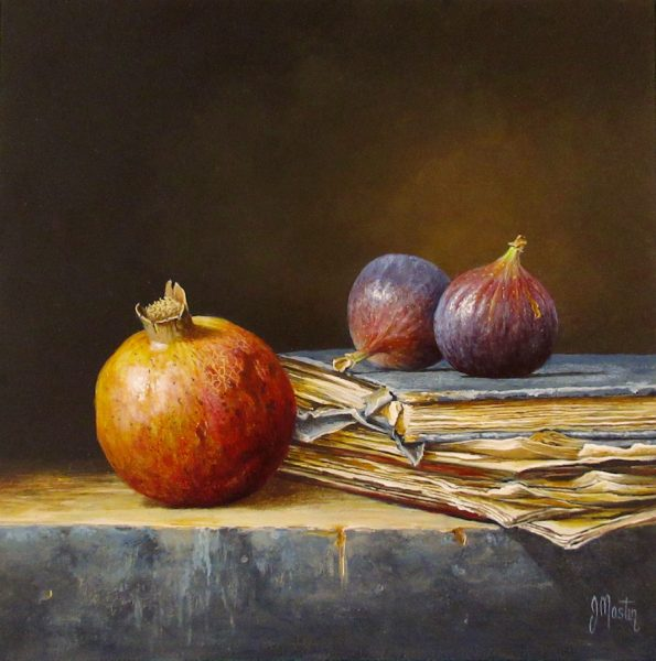 Ian Mastin_Pomegranate with Figs_Acylic_10x10.jpeg