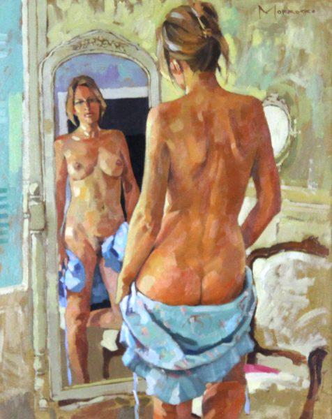 Jack Morrocco_Nude & Warm Sunlight_Oils_19x15_27.75x23.75 - Copy