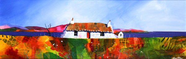 Nick Potter_Blackhouse and Purple Hills_Acrylic
