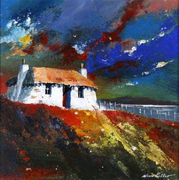 Nick Potter_Hebridean Croft II_Acrylic_11x11.5