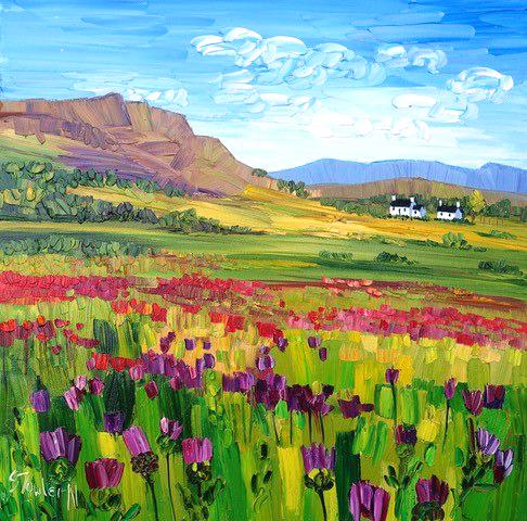 Sheila Fowler_Wildflowers, Perthshire_16x16_21.5x21.5