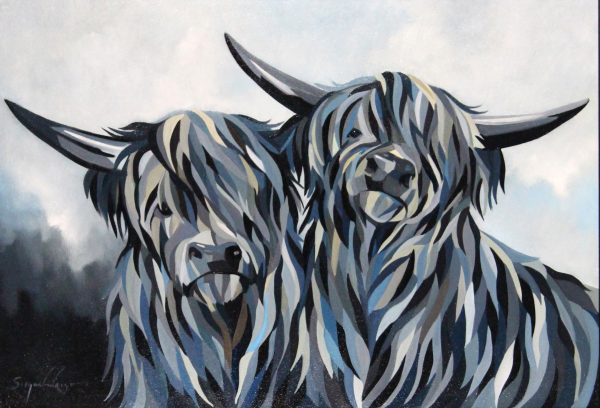 Simon Wright_A Highland Pair_Acrylic_20x29