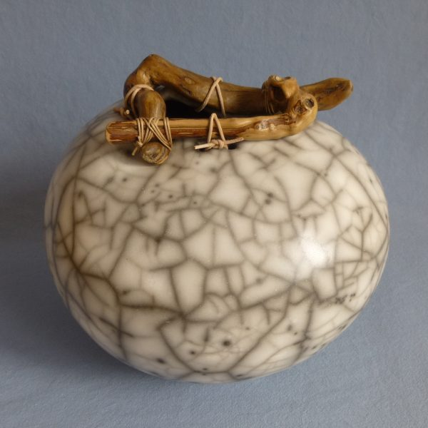 Anne Morrison_Gourd Pot with Ring of Wood
