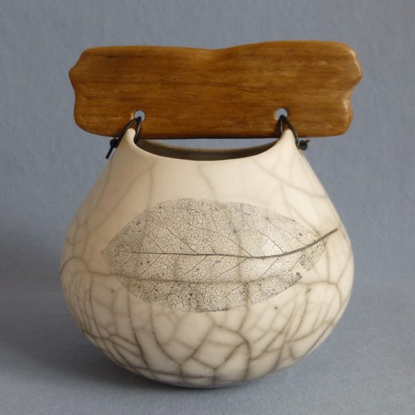 Anne Morrison_Leaf Pot with Flat Wood