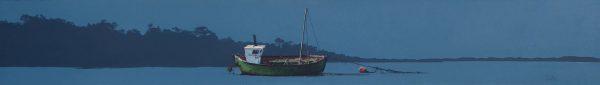 John Bell_Green Boat, Montrose Basin_7x48_17x58
