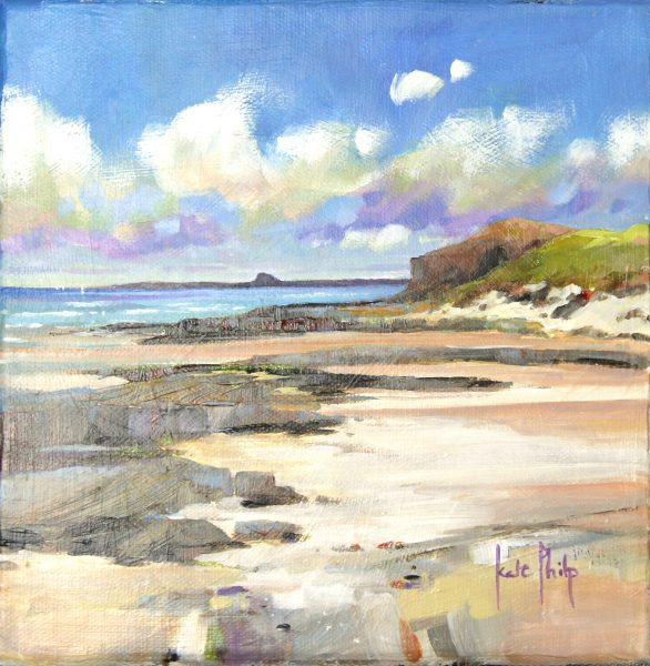 Kate Philp_Holy Island Horizon_Oil_8x8