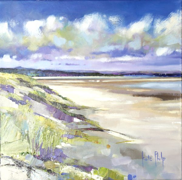 Kate Philp_Sails from West Sands_Oil_16x16