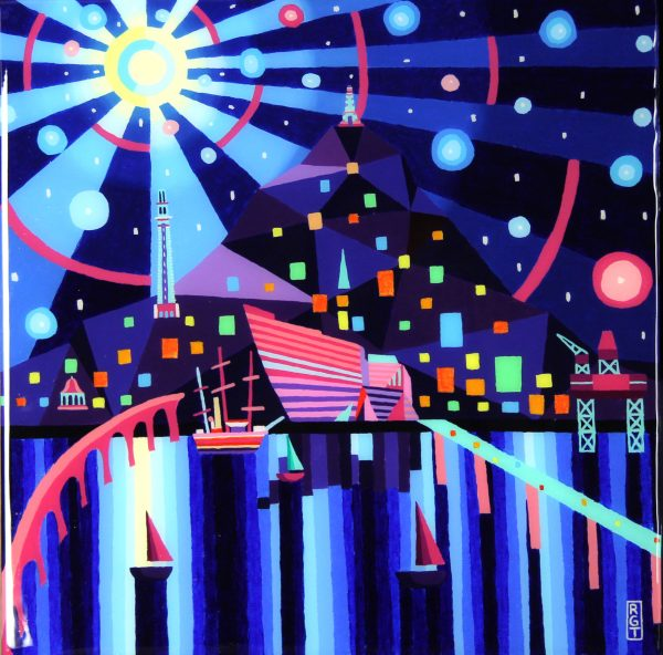 Ross Grant Thomson_Nightlight Dundee_Acrylic_20x20