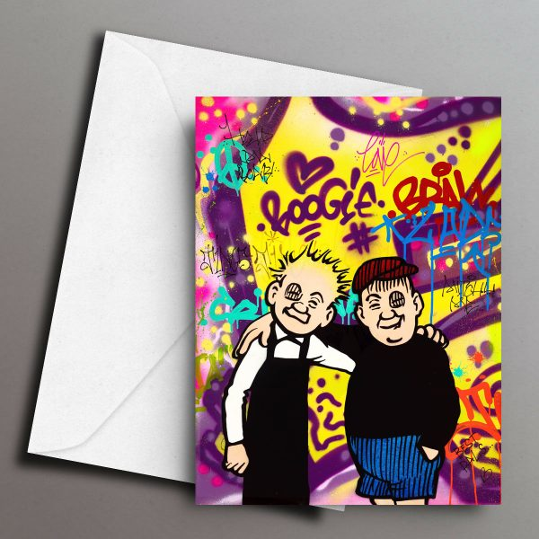 Sleek Studio_Oor Wullie & Fat Boab Greeting Card Front