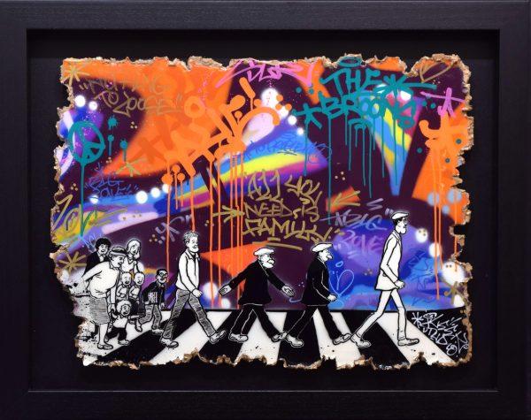 Sleek Studios_The Broons Visit Abbey Road_Mixed Media_23x31