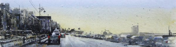 Graham Wands_Soft Light, Beach Crescent_Watercolour_6x21.5